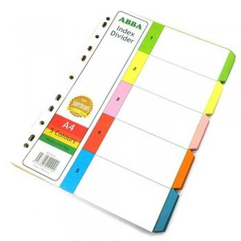 ABBA AB-22009 - 5 color 10 sets Index Divider