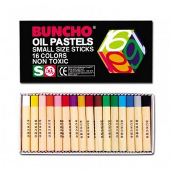 BUNCHO Oil Pastels Small Size Sticks - 16 colors
