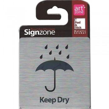 Signzone Peel & Stick Metallic Sticker - Keep Dry (Item No: R01-34)