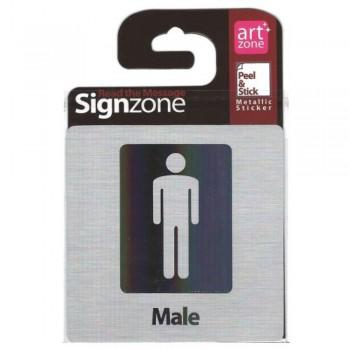 Signzone Peel & Stick Metallic Sticker - Male (Item No: R01-38)