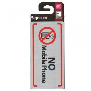 Signzone Peel & Stick Metallic Sticker - NO Mobile Phone ((Item No: R01-60)