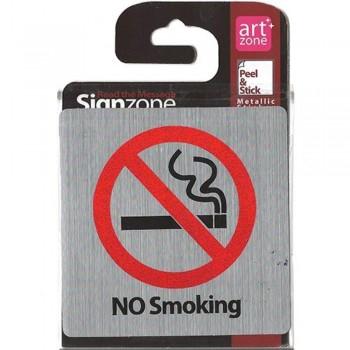 Signzone Peel & Stick Metallic Sticker - NO Smoking (Item No: R01-37)