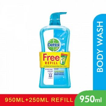 Dettol Shower Gel 950ml+250ml Cool