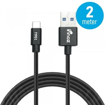 Innoz® InnoLink USB 3.1 to Type-C 5Gbps Super Speed Transfer & 5V/3A  High Speed Charging Cable - Black (2m)