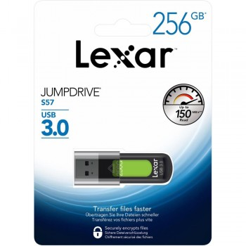 Lexar S57 Jumpdrive 256GB USB 3.0 Flash Drive (up 150MB/s read)