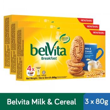 Belvita Breakfast Milk & Cereal Biscuits (80g x 3)