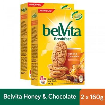 Belvita Breakfast Honey & Chocolate Biscuits (160g x 2)