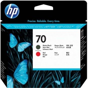 HP 70 DesignJet Printhead - Matte Black/Red (C9409A)