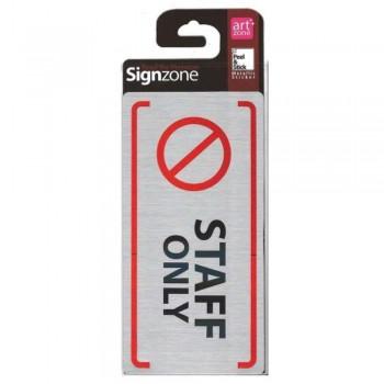 Signzone Peel & Stick Metallic Sticker - STAFF ONLY (Item No: R01-72) A9R1B1