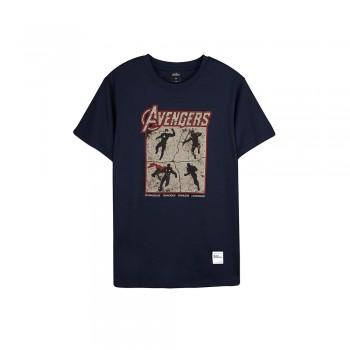 Avengers Endgame Series: Avenger Tee Group - Navy Blue, XL