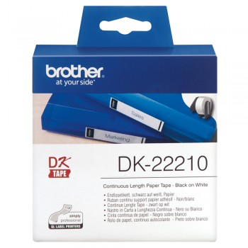 Brother DK22210 Continuous Length Paper Tape - 29mm x 30.48m