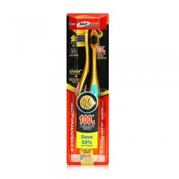 Colgate 360 Charcoal Gold Toothbrush Value Pack Ultra Soft x 2 pcs