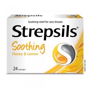Strepsils Soothing Honey & Lemon Lozenge 24s